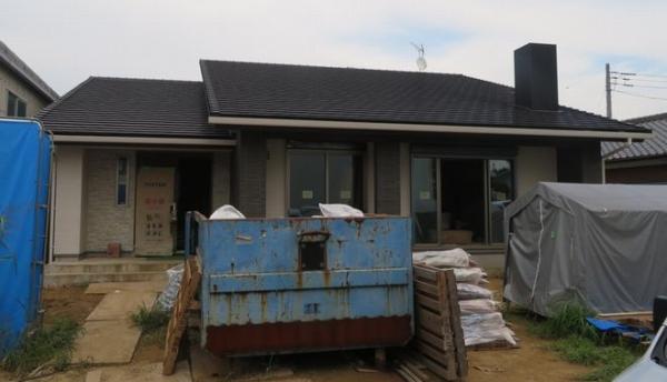 ロフト付き平屋「栞の家」が仕上げ工事に入りました