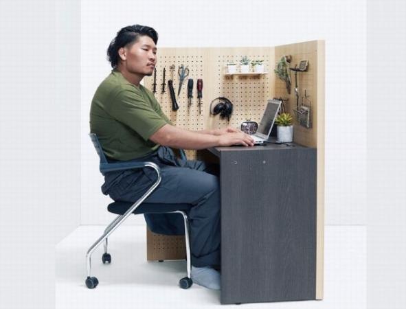 1㎡の個室空間が自分で組み立てられる簡単デスク