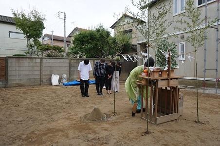 夏は花火にBBQ、スカイバルコニーのあるお家 銚子市Y様邸地鎮祭