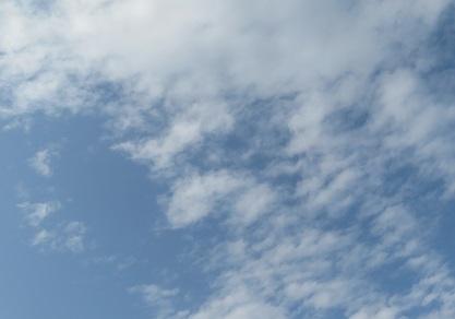青空に飛行機.JPG