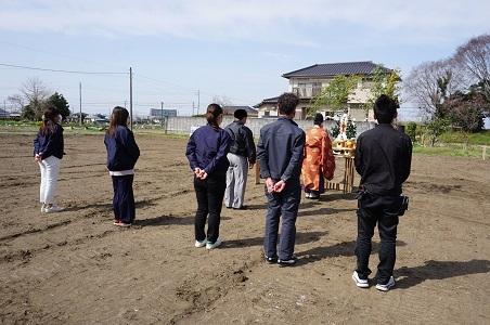 早い者勝ちですよ~^▽^  *香取市仁井宿分譲地~地鎮祭~