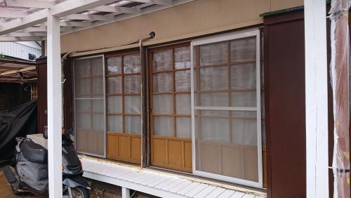 木製建具をリフォーム窓に★